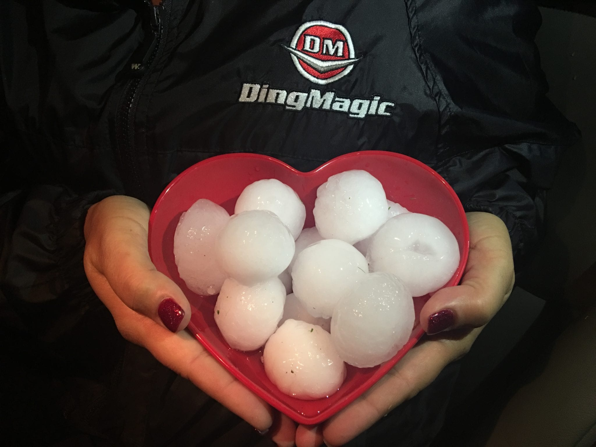 golf ball sized Hail damage to your car