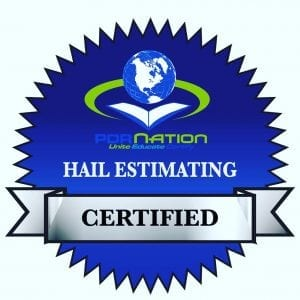 Qualifications PDR Nation Hail Estimating Certified badge at Pro Auto Spa in Colorado Springs