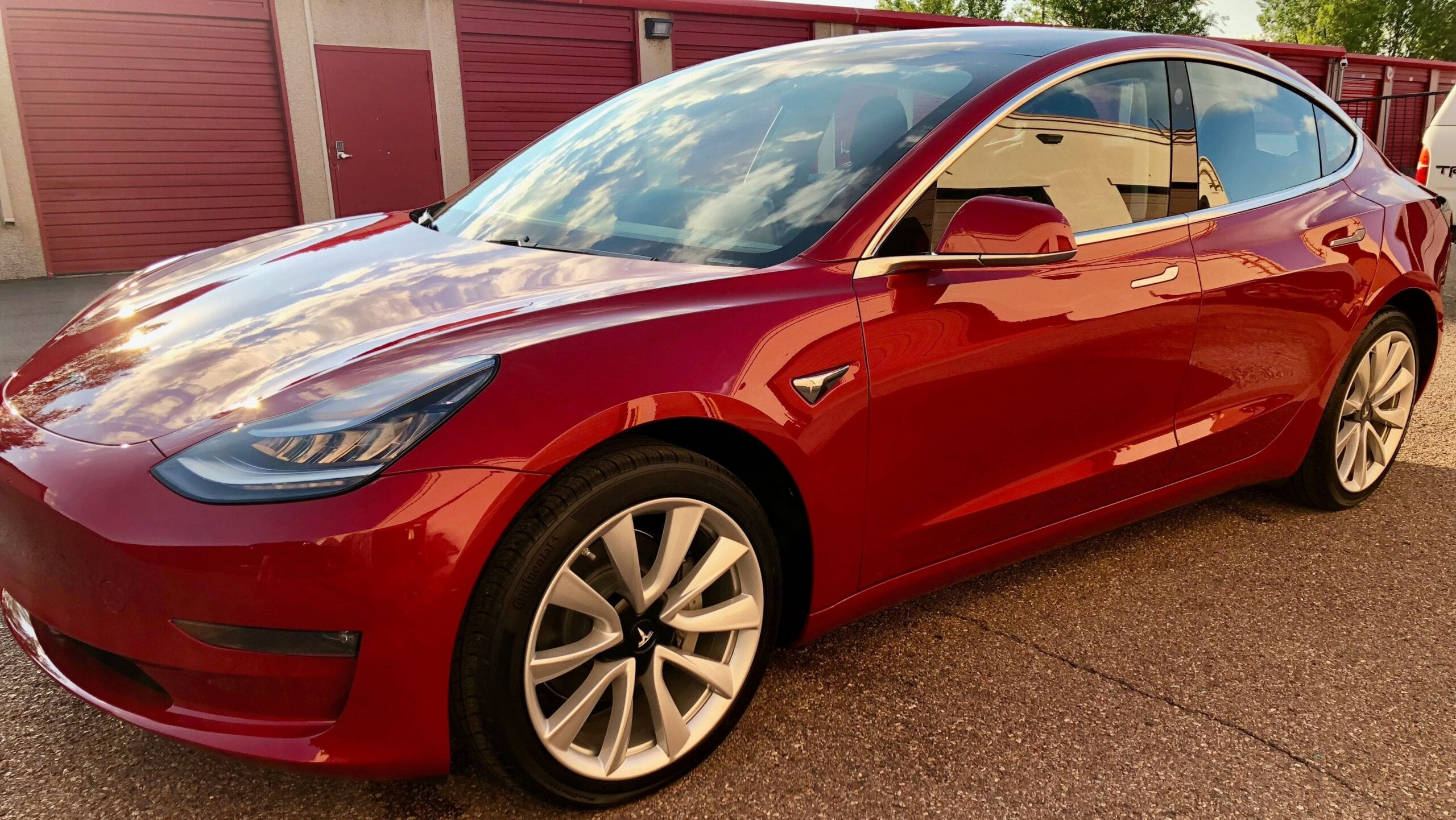Professional Detailing and Ceramic Coating Red Car at Pro Auto Spa in Colorado Springs
